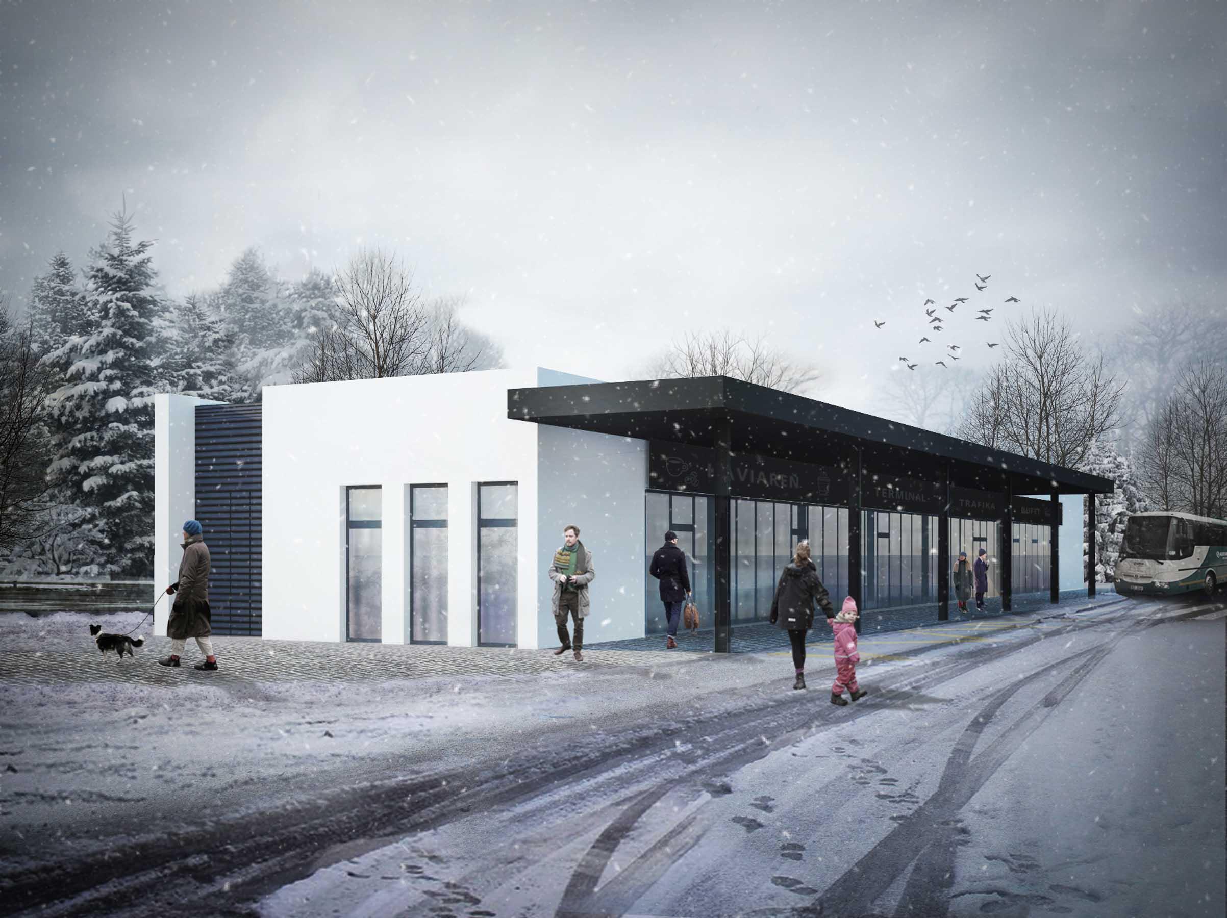 Terminál autobusovej stanice, Piešťany - Vizualizácia