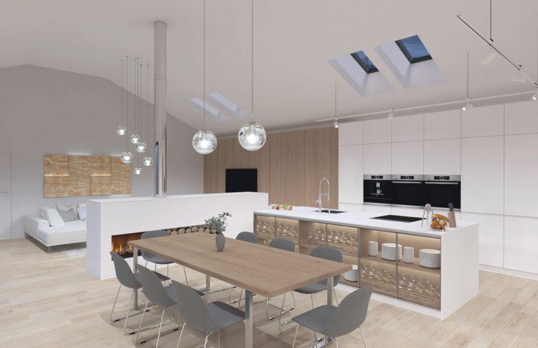 Interiér RD v Leviciach, kuchyňa, VAUarchitects