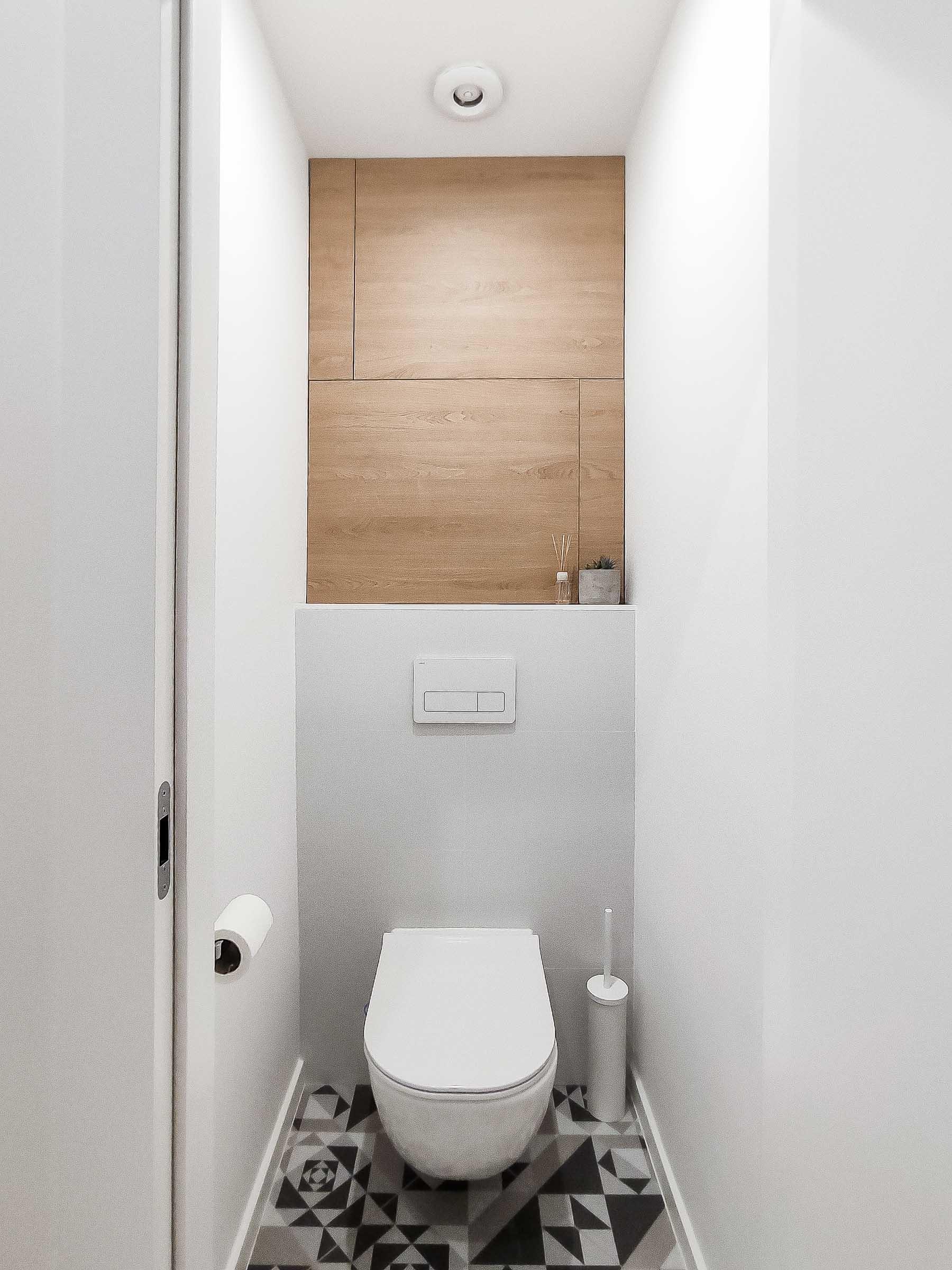 Rekonstrukcia bytu, Ruzinov, WC, VAUarchitects