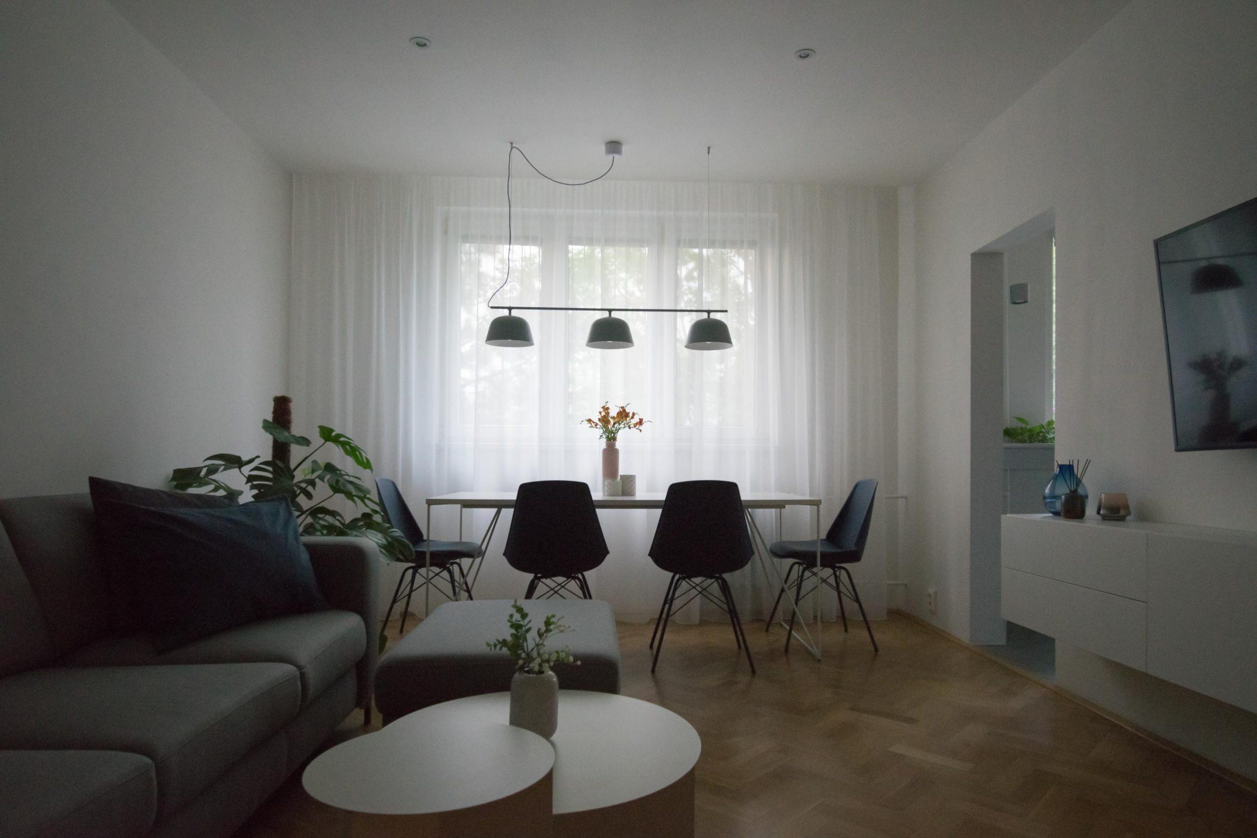Rekonstrukcia bytu, Ruzinov, obyvacka, VAUarchitects