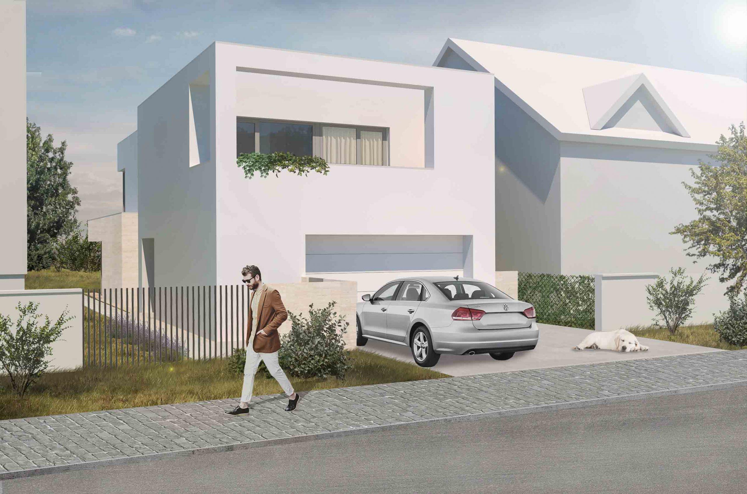 Návrh rodinného domu, Piešťany, ulica, VAUarchitects
