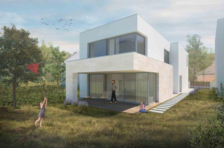 Návrh rodinného domu, Piešťany, záhrada, VAUarchitects